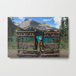 Moraine Lake Relaxation Metal Print