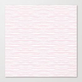 light pink wavy stripes Canvas Print