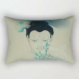 Blue Gautama Buddha Rectangular Pillow