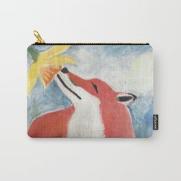 Fox and Daffodil Carry-All Pouch