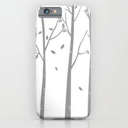 White Birch Contemporary iPhone Case