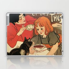Vintage French tea and hot cocoa advertising Laptop & iPad Skin