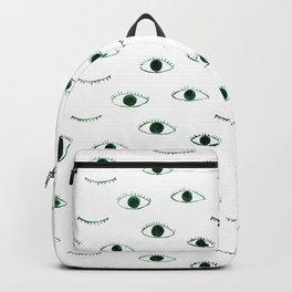 Green eyes    watercolor Backpack