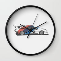 bmw Wall Clocks featuring BMW M1 by Remove Before . . .