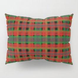 Red, green tartan plaid. Pillow Sham