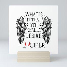 Lucifer Morningstar Mini Art Print