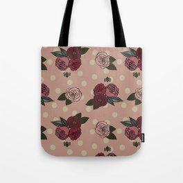 Peonies and Polka Dots Tote Bag