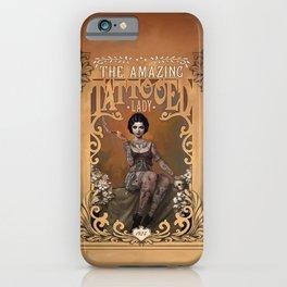 The Amazing Tattooed Lady iPhone Case
