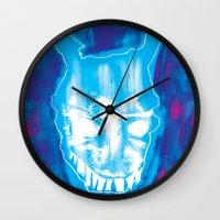 donnie darko Wall Clocks featuring Darko by Logan David