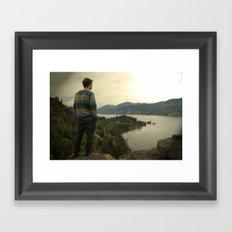 Looking Ahead Framed Art Print