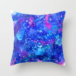Galaxy Dreamland Throw Pillow