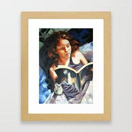 Night Reader Framed Art Print
