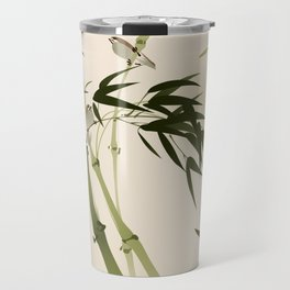 Oriental style painting, bamboo branches Travel Mug