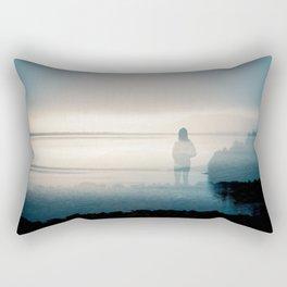 Silence on the Sound - Film Double Exposure taken on the Oregon Coast Rectangular Pillow