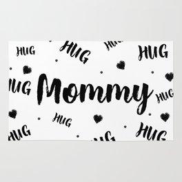 Mommy Hug, Inspirational PRINTABLE quotes, Nursery prints wall art, Kids room decor, Playroom decor Rug