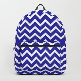 Zigzag (Navy & White Pattern) Backpack