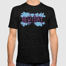 New;Day Purple and Cyan T-shirt