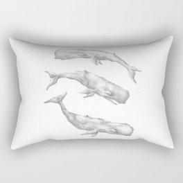 Three Little Whales Rectangular Pillow