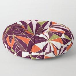New Art Deco Geometric Pattern - Burgundi and Pink #deco #buyart Floor Pillow