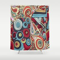 grafitti Shower Curtains featuring Summa' Time by DuckyB