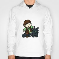 hiccup Hoodies featuring Chibi Hiccup and Toothless by Gio Garcia