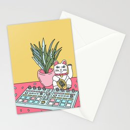 Sad cat pad Stationery Cards