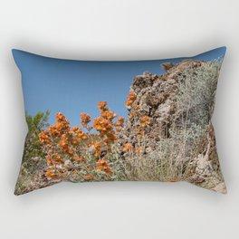 Desert Wildflowers & Cacti in Spring Rectangular Pillow