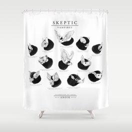 ANOIK Skeptic on Vampires Shower Curtain