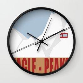 Eagle Peaks - Ski Poster Wall Clock