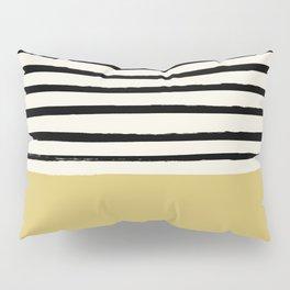 Daffodil Yellow x Stripes Pillow Sham