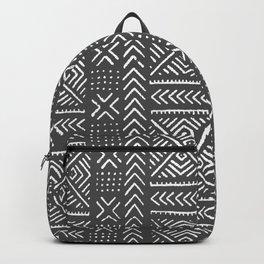 Line Mud Cloth // Charcoal Backpack