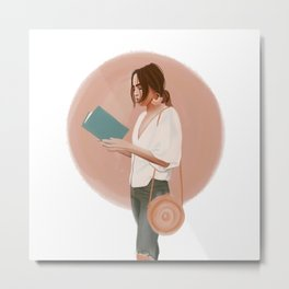 The Reader Metal Print