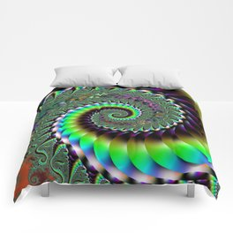 Fractal Staircase Comforters