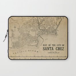 Santa Cruz Vintage Map Laptop Sleeve