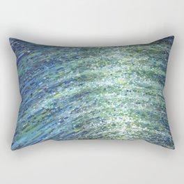 Shimmerin Ocean Wave Reflections Rectangular Pillow