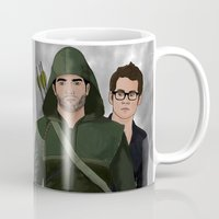 sterek Mugs featuring Arrow!Sterek by Finduilas