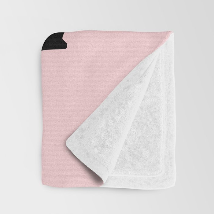You Are Doing Great Bitch in pink and black typography Throw Blanket