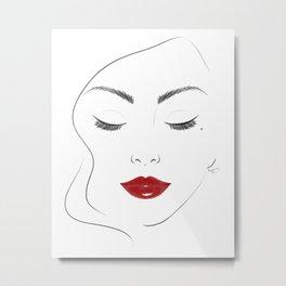 Red lips Metal Print