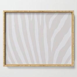Tan & Off White Zebra Print Serving Tray