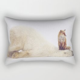 Foxy takedown Rectangular Pillow