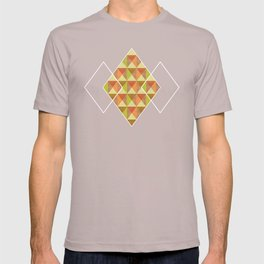 Triangle Diamond Grid T-shirt