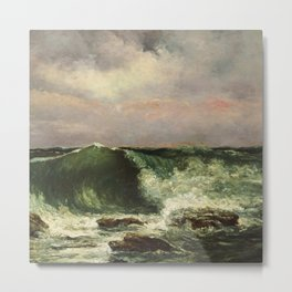 "Gustave Courbet ""The Wave 1869 private"" Metal Print"