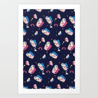 matisse Art Prints featuring MATISSE DREAMS by Wishbox Creative