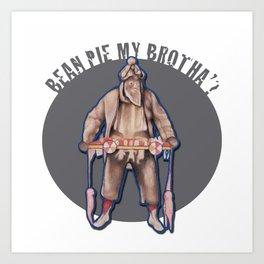 "Bean Pie My Brotha"" Art Print"