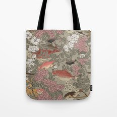 Fishes & Flowers - Seamless pattern Tote Bag
