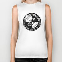 fandom Biker Tanks featuring Ultimate Fandom Academy by Thg Fashion