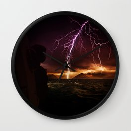 Storm seen from a helicopter by GEN Z Wall Clock