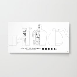 Coffee with Whiskey - Archaeological Drawing Metal Print