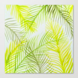 Painted Palm Fronds Canvas Print
