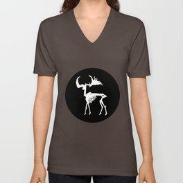 Deer Skeleton Unisex V-Neck